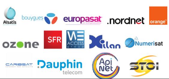 Logos des opérateurs Internet labellisés