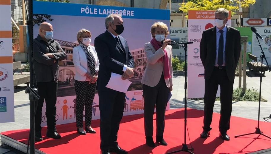Revitalisation commerciale : pose de la première pierre d'un pôle commercial, à Pau